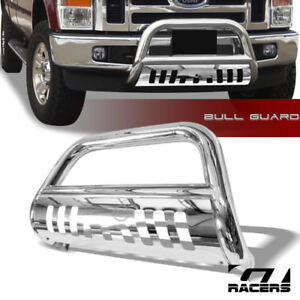 For 2008 2010 Ford F250 F350 S S Chrome Bull Bar Brush Bumper Grill Grille Guard