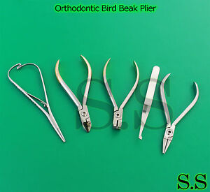 Orthodontic Bird Beak Plier Hard Wire Cutter Distal End Mathieu Bracket Dn 2027
