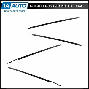 Oem Belt Weatherstrip Sweep Front Rear Outer Kit Set Of 4 For Tundra Crewmax New