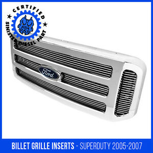 Sinister Diesel 05 07 Ford F250 F350 Super Duty Excursion Billet Grille Inserts