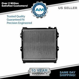Radiator Assembly Aluminum Core Direct Fit For Toyota Pickup Truck 3 0l 4x2 New