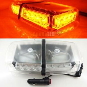 New Amber 24 led Flash Strobe Warning Magnetic Roof Snow Plow Led Light Mini Bar