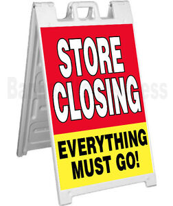 Store Closing A frame Sidewalk Sign Going Out Of Business Pavement Signicade