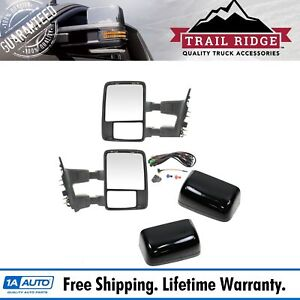 Trail Ridge Towing Mirror Upgrade Power Folding Heat Smoked Signal Pair For Ford