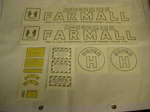 Ihc Farmall Model Super H Tractor Decal Set Vinyl Cut Free Shipping