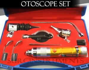 Otoscope Ophthalmoscope Amber 11 Piece Ent Medical Diagnostic Set