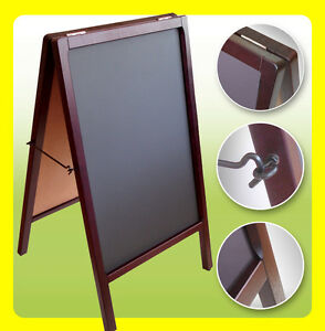 Chalkboard A frame Double Sided Menu Restaurant Sign Sidewalk Sandwich Board