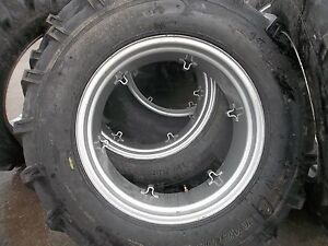 Four Ford 4000 Tractor 14 9x28 14 9 28 8 Ply Tires W 6 Loop Wheels