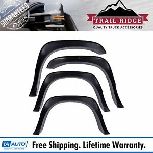 Trail Ridge Fender Flare Kit Bolt On Extension Style Smooth Set Of 4 For Ram