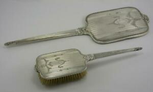 Superb Victorian Sterling Silver Mirror Brush Set By International Silver