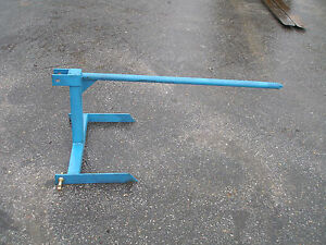 3 Point Hitch Hay Spear Blue