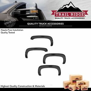 Fender Flare Kit Rugged Style Smooth Black Set Of 4 For Silverado Sierra Pickup