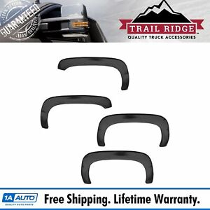 Trail Ridge Fender Flare Kit Rugged Style Smooth Black Set For Chevy Gmc Truck