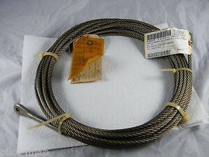 New Ge Heavy Equipment Cable Assembly 1 4 X 50 Steel Cable 158b7267p001