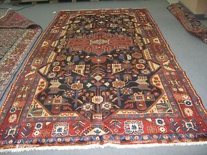 Persian Kurd Kurdish Senneh Area Rug Carpet Hand Knotted Wool 5 7 X10 9