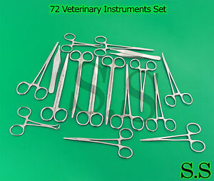 72 Veterinary Instruments Set Surgical Medical Spay Pack Forceps Economy Ds 1058