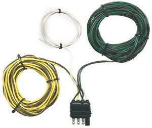 New Hopkins 48245 Flat Y harness Trailer Light 4 Wire Connector Kit 8949398