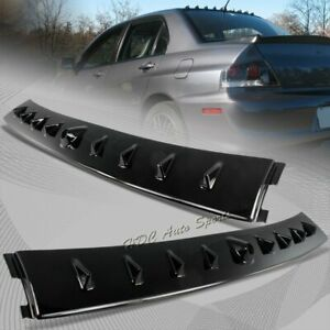 For 2002 2007 Mitsubishi Lancer Evo Glossy Black Shark Rear Roof Spoiler Wing