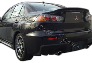 For 08 17 Lancer Evolution X Matt Black Abs Rear Trunk Duck Tail Lid Spoiler