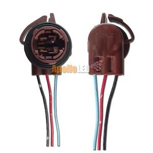 2pcs 3157 3156 4157na 4114 Bulb Signal Light Harness Socket Plug Pigtail Adapter