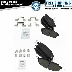 Front Rear Posi Ceramic Disc Brake Pad Kit Set For Ford Mustang New