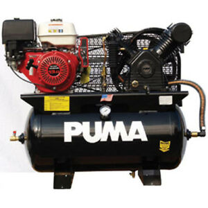 Puma Tn 13030hge 13 hp 30 gallon Industrial Horizontal Air Compressor