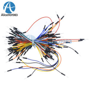 10pcs Male To Male 65pc Solderless Flexible Breadboard Jumper Cable Wires 650pcs