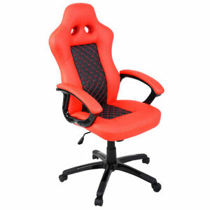Goplus High Back Race Car Style Bucket Seat Office Desk Chair Gaming Chair N