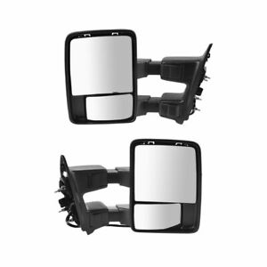 Power Heat Folding Smoked Turn Ptm Upgrade Towing Mirror Pair For Super Duty