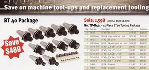 Techniks Cnc Bt 40 Tooling Package 41 Pc Collet Chucks Collets