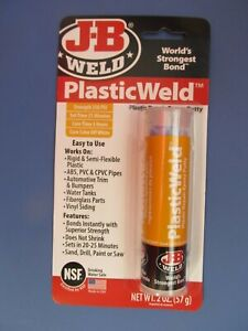 J b Weld 8237 Plasticweld Plastic Repair Epoxy Putty 2 Oz New