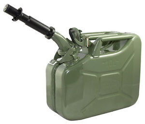 New Wavian 10 Liter Nato Military Steel Jerry Can Olive Drab Green 3014