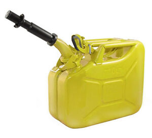 New Wavian 10 Liter Nato Military Steel Jerry Can Yellow 3025