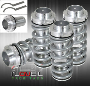 98 02 Honda Accord Jdm Scaled Adjustable Coilover Lowering Spring Sleeves Silver