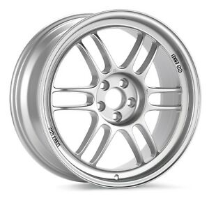 4 Enkei Racing Rpf1 17x8 5x114 3 35mm F1 Silver Wheels rims