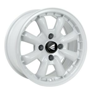 4 Enkei Compe Wheels 16x7 4x100 25 White Rims