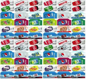 72 Coke Or Soda Machine Vending Label Pack Late Style 4 Of Each Ships Free