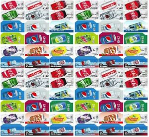 Qty 72 Coke Or Soda Machine Vending Label Pack Late Style Four Of Each Strip