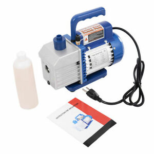 Single Stage 1 3hp 5cfm Rotary Vane Deep Vacuum Pump Hvac Ac Air Tool R134 R410a