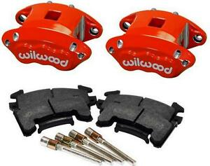 Wilwood D154 Front Caliper Kit Red Powder Coated Caliper 140 12099 R