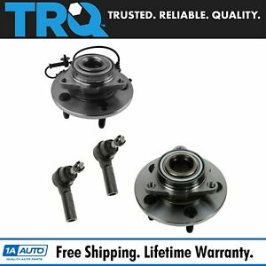Front Wheel Hub Bearing W outer Tie Rod Ends Set Of 4 Lh Rh For Dodge Ram