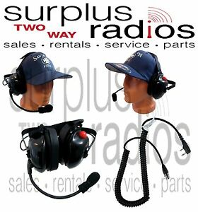 Dual Ear Racing Headset For Kenwood Nx320 Nx220 Tk3360 Tk2360 Tk3312 Tk2312