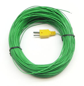 Extra Long 160ft 50m K type Thermocouple Wire Digital Thermometer Temperature K