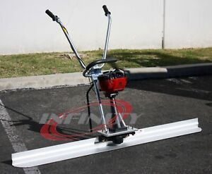 10ft Concrete Surface Finishing Screed Leveling Ruler Tamper 31cc 4 Stroke Gas