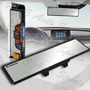 Broadway 300mm Wide Flat Interior Clip On Rear View Clear Mirror Universal 4