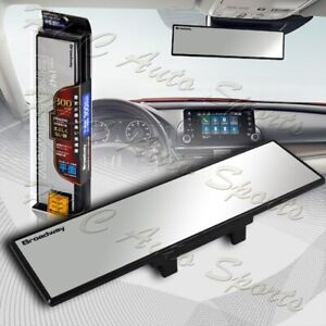 Broadway 300mm Wide Flat Interior Clip On Rear View Clear Mirror Universal 5