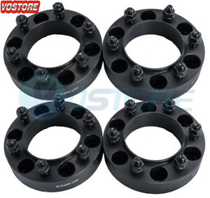 4 1 5 6 Lug Hubcentric Black Wheel Spacers Adapters 6x5 5 For Toyota Tacoma