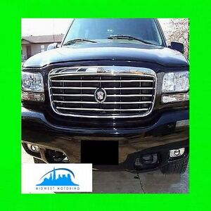 99 00 Cadillac Escalade Chrome Trim For Grill Grille W 5yr Warranty