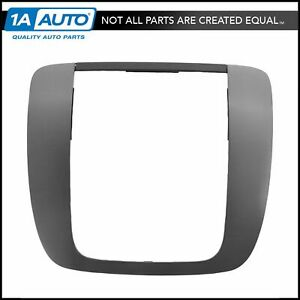 Oem Instrument Radio Trim Bezel Brushed Metallic For Silverado Sierra Tahoe New