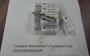 3 16 M42 Cobalt End Mills 4 Flt Center cutting 10pc For 58 00 1009 co 316 new